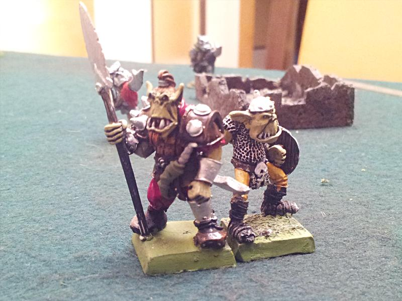 Champion Orc et guerrier orc - Figurines Fenryll