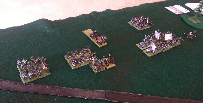 15mm Union miniatures waiting for the attack