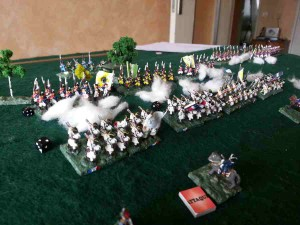 ( on the right wing, the french assault was repulsed several times )