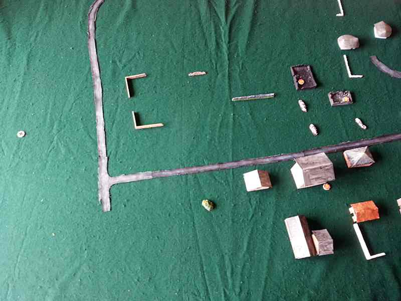 terrain pour la partie de figurines Chain Of Command