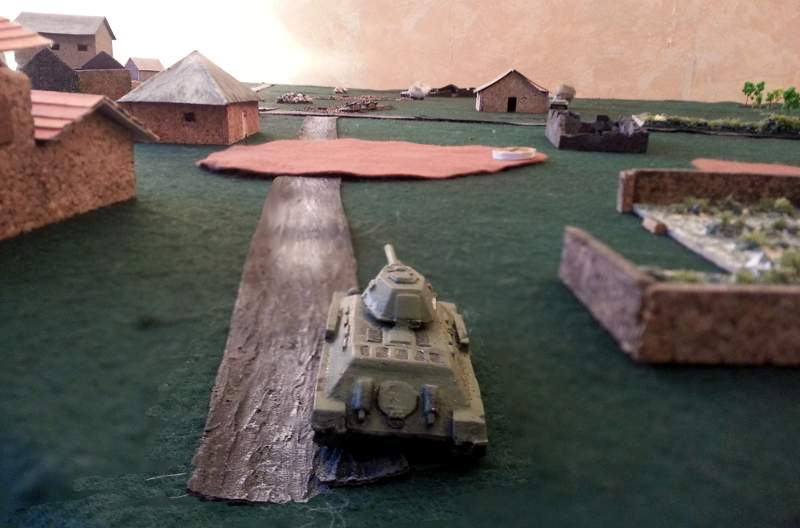 ( a T34  took position in the village and opened fire, destroying a 2nd PzIII, and shooting at my soldiers )