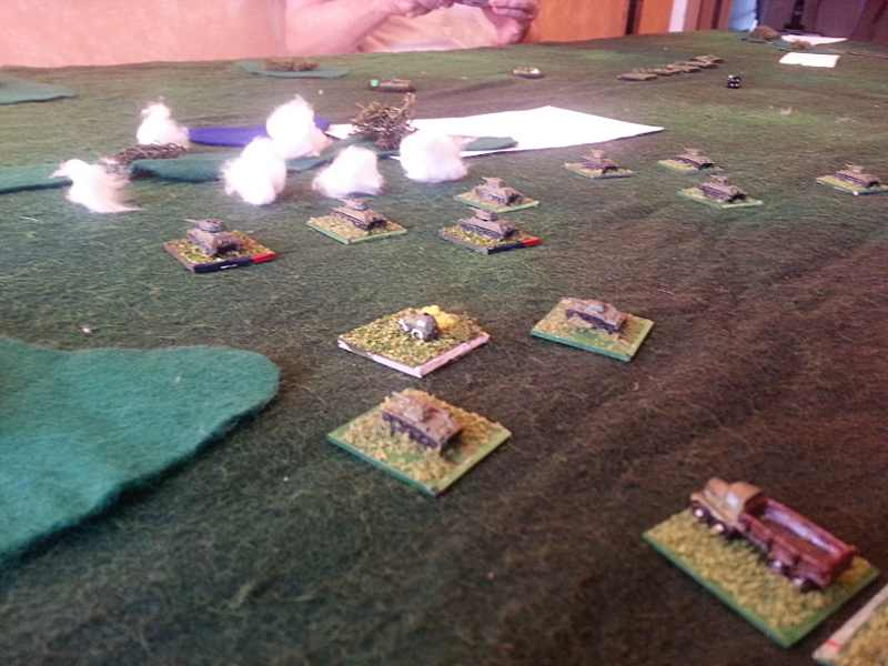 "( My attack on the left was slow ! My activation dice were unlucky.. ""the officers were too cautious"" ? )"