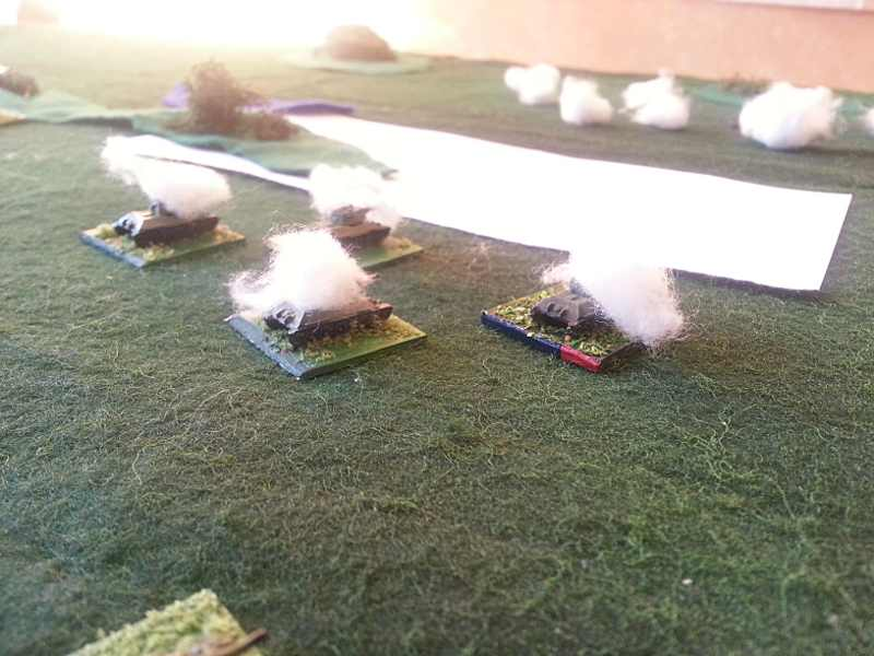 ( the ATG opened fire at point blank ! sorry for the white cardboard.. it's a minefield.