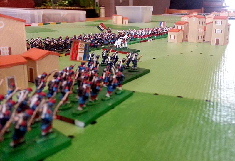 ( soldiers of the Espinasse column. They march along some austrians avant garde )