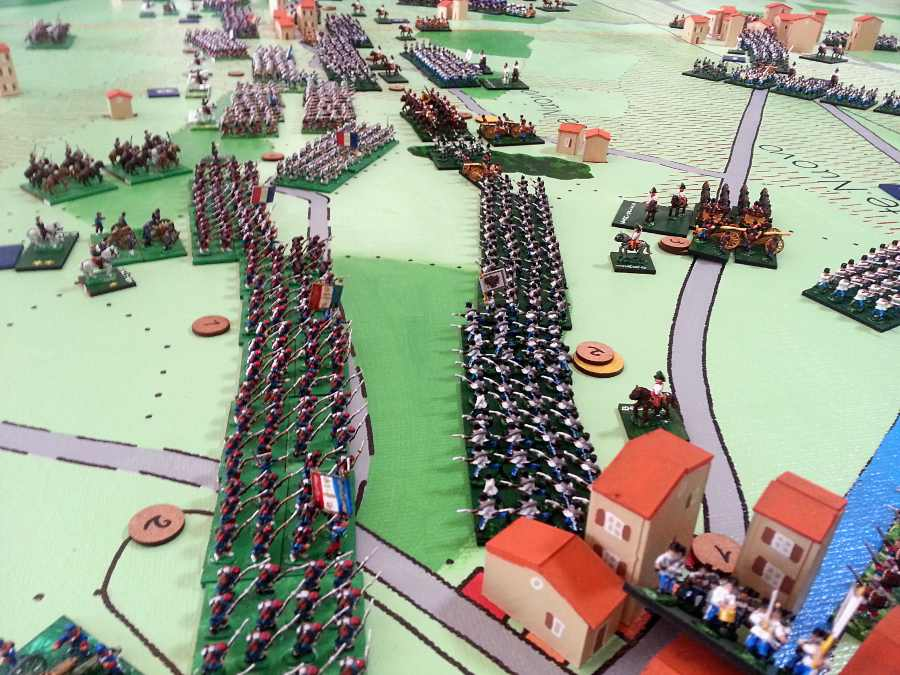 ( The french lines advanced, despite the loss of some officers )