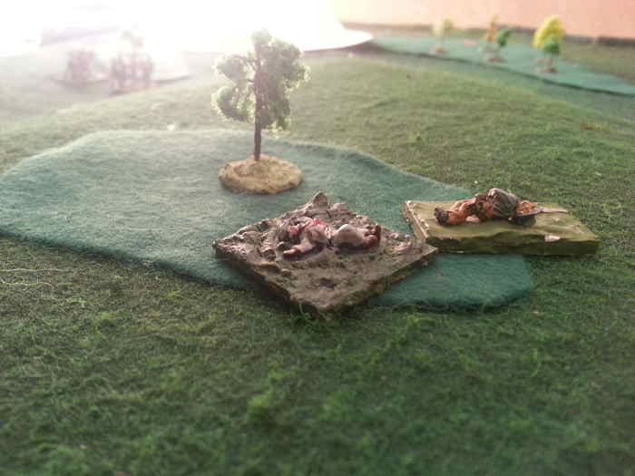 ( On the left hill, the south was surprised and hit on the flank. Some units routed )