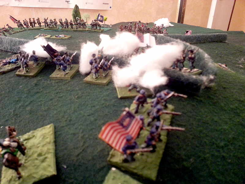 ( The armies moral slowly went down, specialy mine.. There was severe firefights )