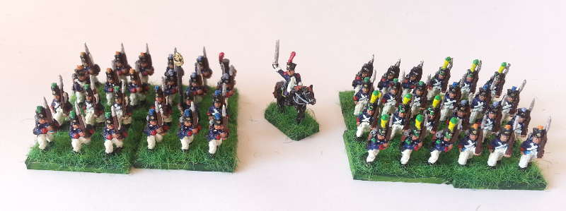 Deux bataillons de 4 socles. Two battalions made of 4 bases