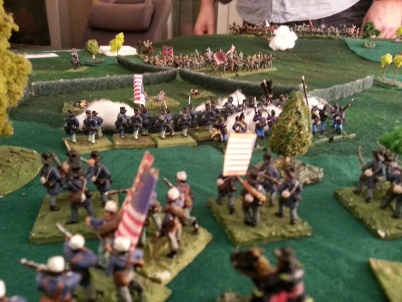 ( Meanwhile in the middle, I was pushing away the rebs ! )