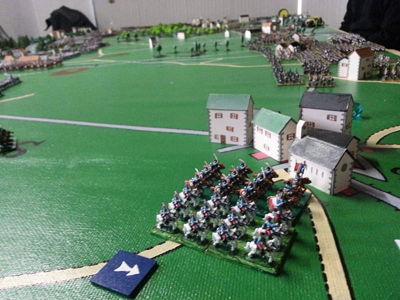 ( Sebastien, our overall french commander striked with a cavalry charge, to slow down the prussian deployment )