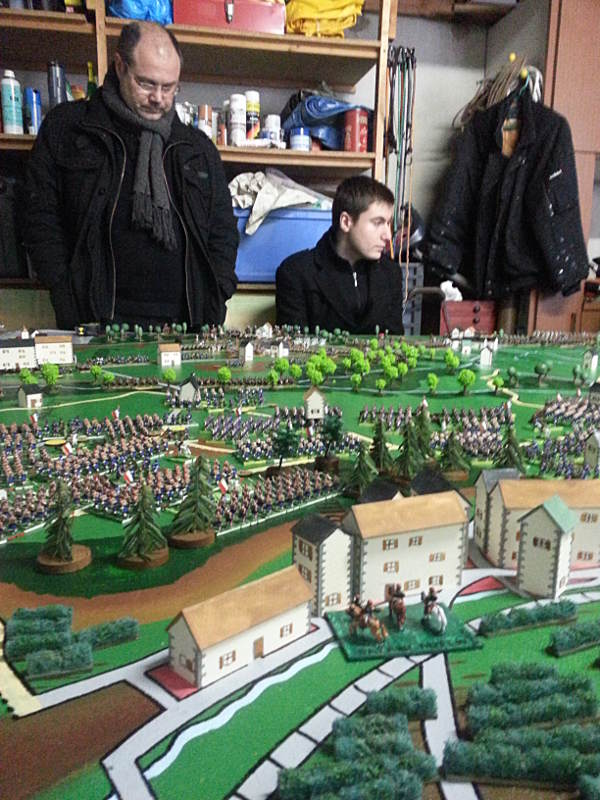 ( The prussians thinking about their plan )