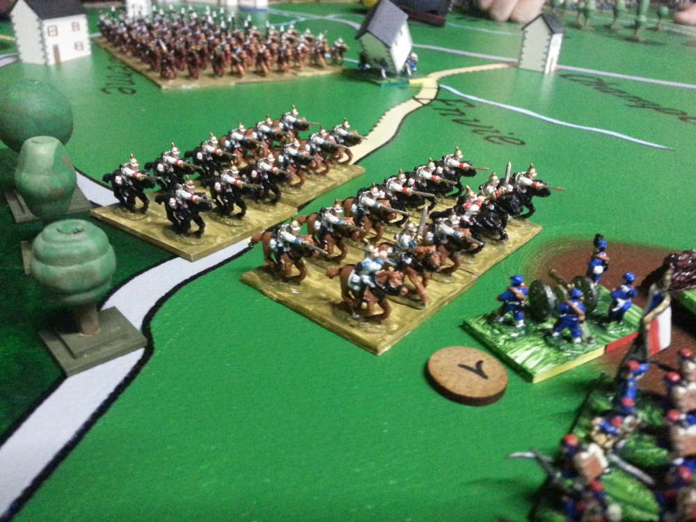 ( The first of several cavalry charges. It was repulsed.)