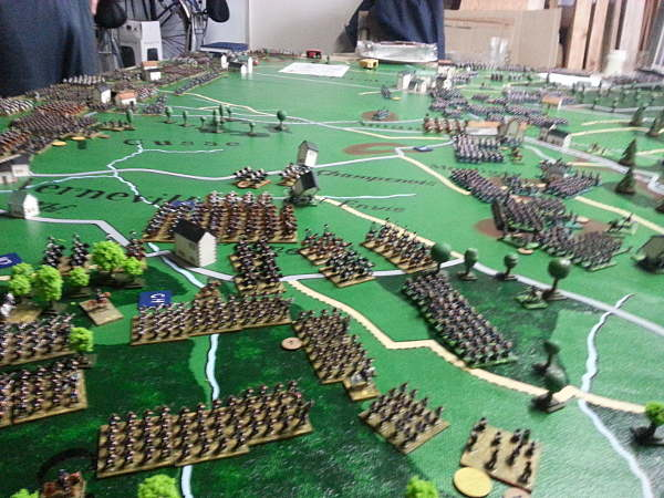 ( Seen from the south, the prussian advanced. But they did not in the north, where the artilleries fired and fired .. )