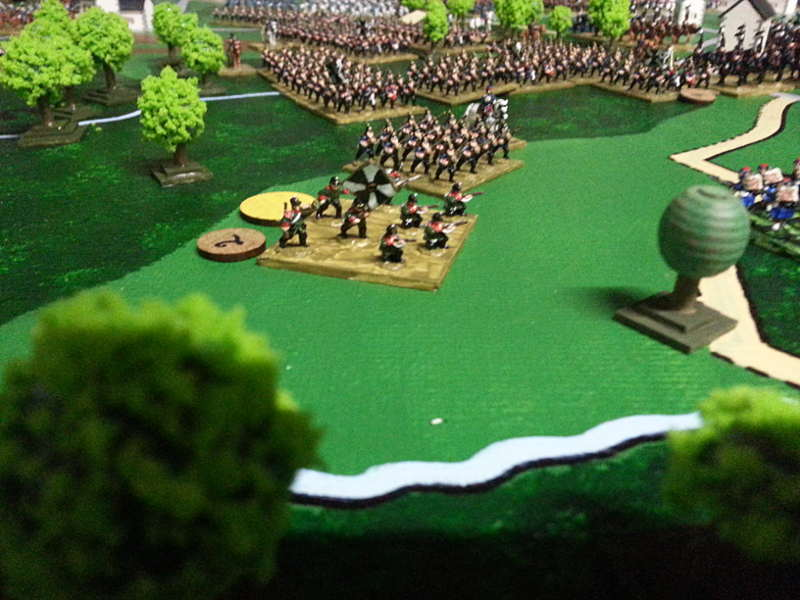( But under heavy fire from Machine Guns - our secret weapon - the prussian still advanced )