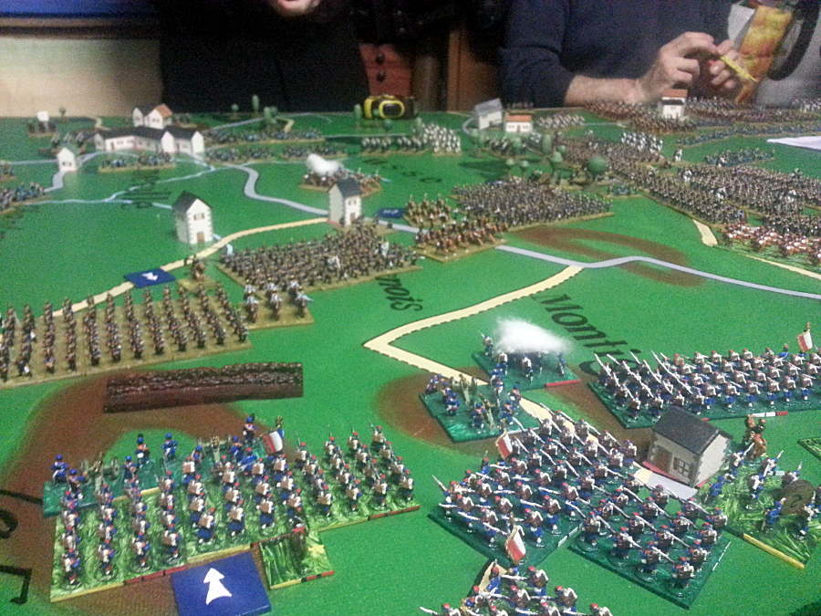 ( The french lost some entrenchments, but still hold the ground )