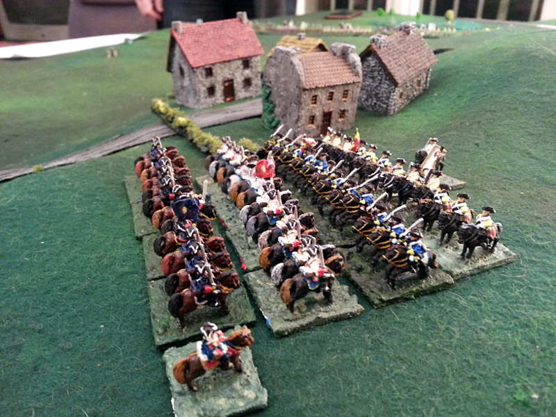 ( On my right flank, Luc tried to bypass, and I had to sent my cavalry, they countercharged. )