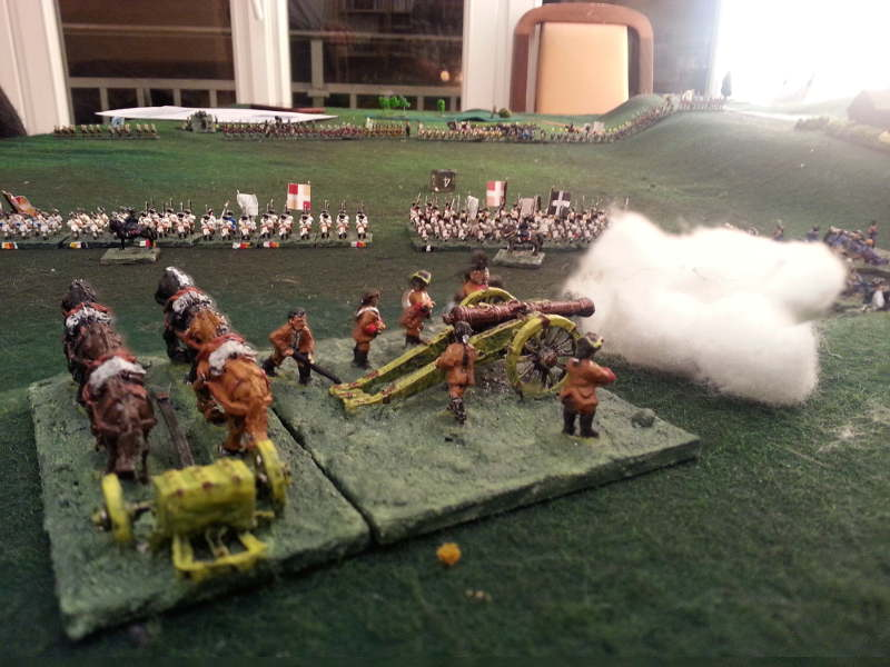( I also used my artillery to stop Luc's cavalry )