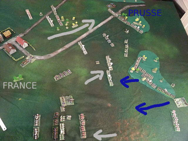 ( My french advance. While Luc was now in position to really attack.)