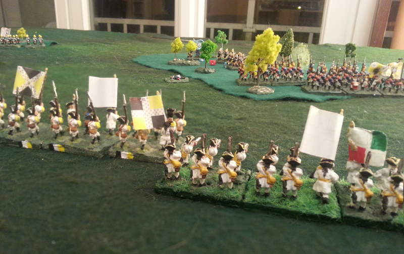 ( The french line hold the ground, but the prussians, covered in the woods, launched another attack.)