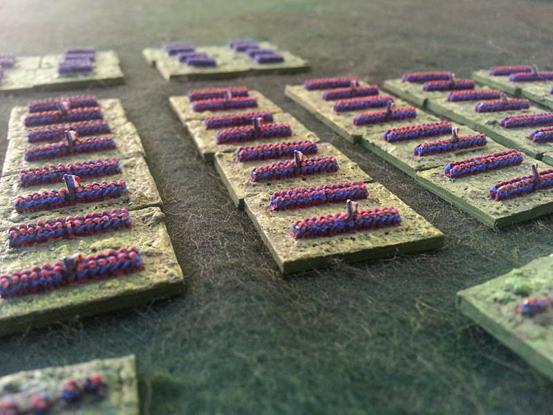 ( A close up of the french infantry. Some Gardes Mobiles in the background )
