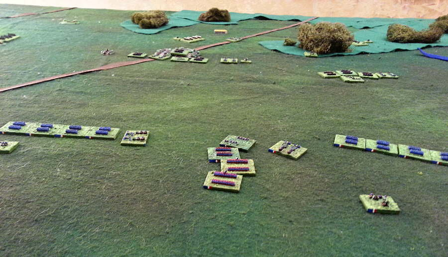 ( Chanzy's 16th Corps in the foreground, moved towards Coulmiers )