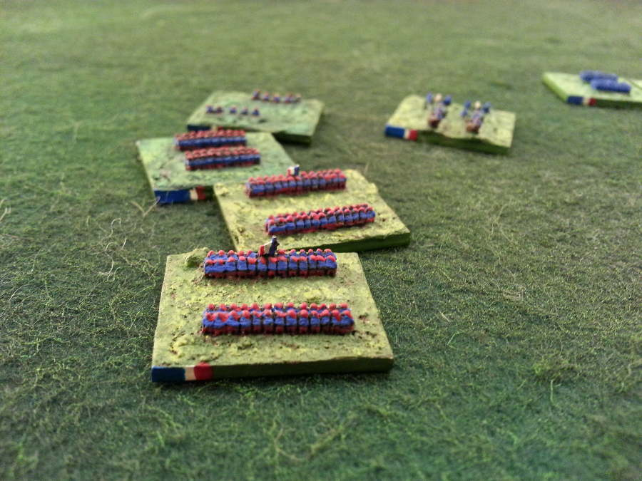 ( A French Line brigade, disrupted by the german guns )