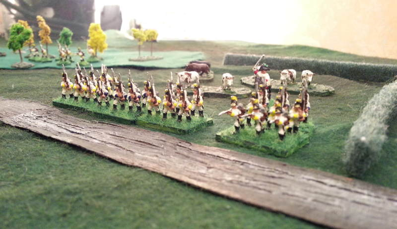 ( Austrians, going into a formation)