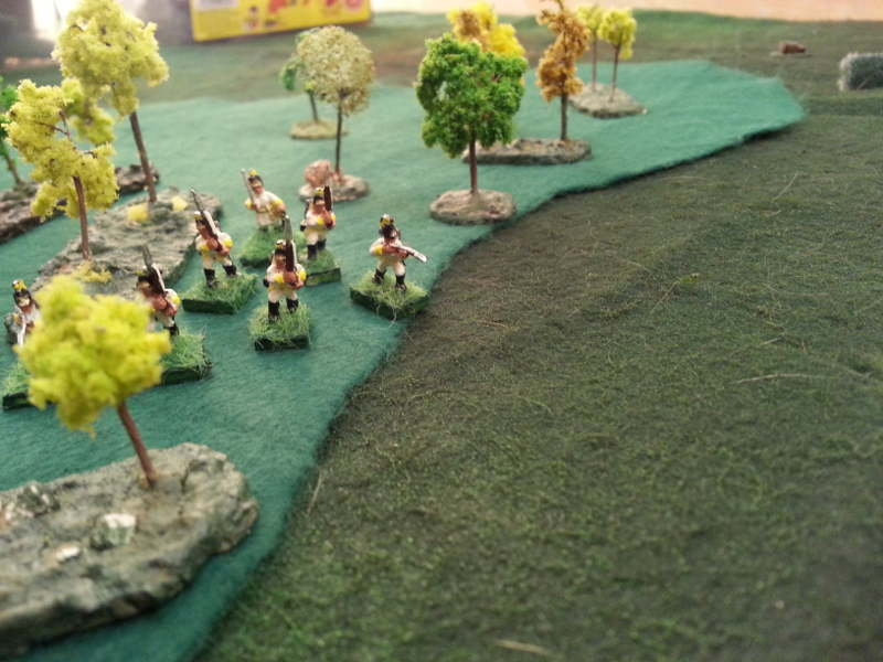 ( Austrian skirmishers in the woods, trying to outflank the French. They did well ! )