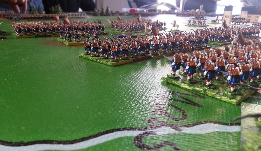 ( French columns were advancing to fight the prussians, in order to deny them any counter attack )