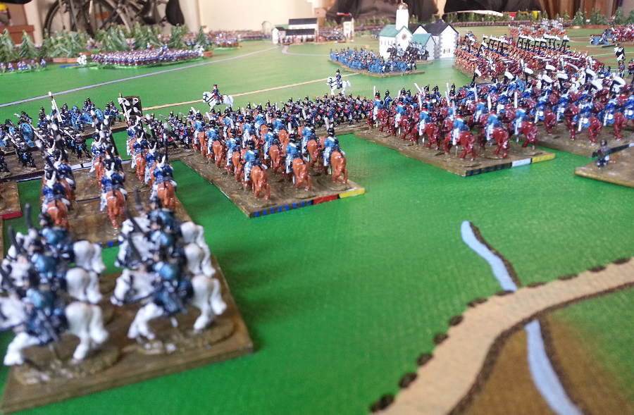 ( The prussians saw the french army getting away in good order )