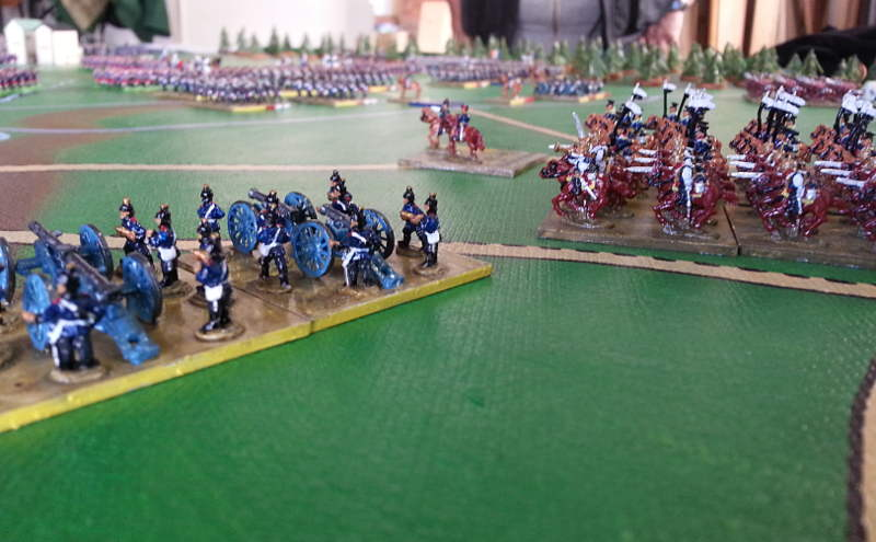 ( On the west flank, the prussian army took position to close the trap )