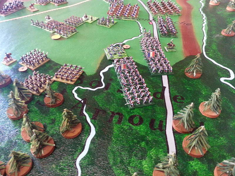 ( Meanwhile in the south, the french launched a false attack : the prussian player fall in the trap and send some of his force to fight in the woods ! )