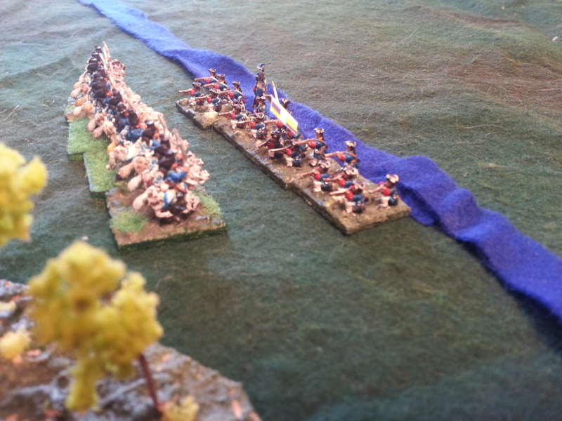 ( The french light infantry repulsed the light cavalry )