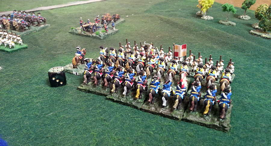 ( Finally, prussian cavalry won on a flank )
