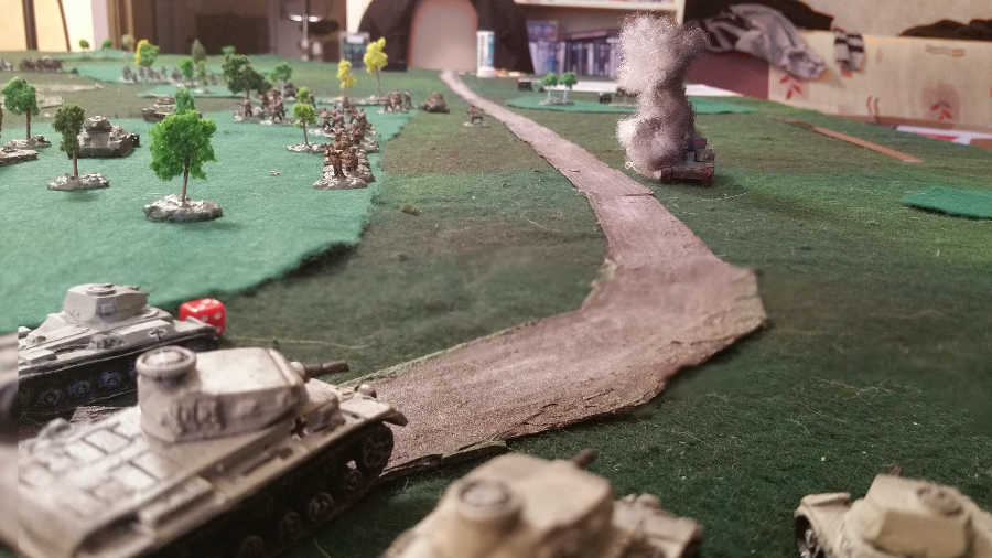 ( The german panzers came and killed the T-28 )