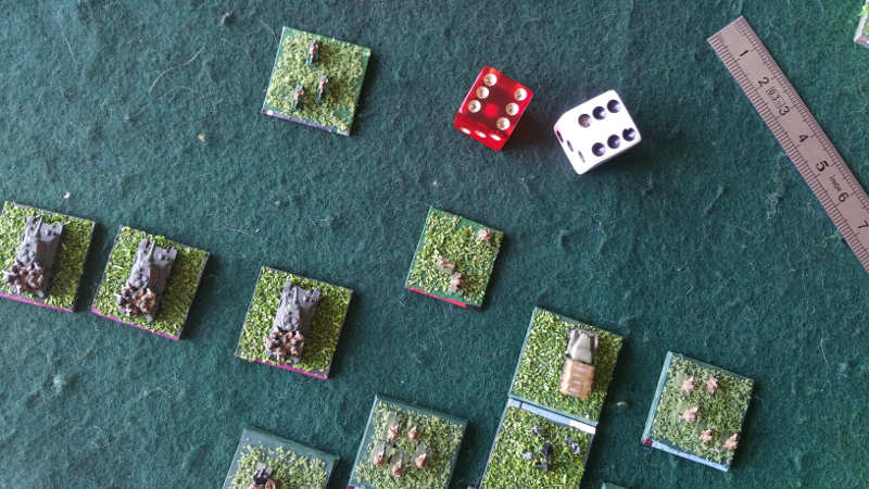 ( My usual Bad Luck ! This formation didn't move for 3 turns ! - But the german side also had some bad dice. )