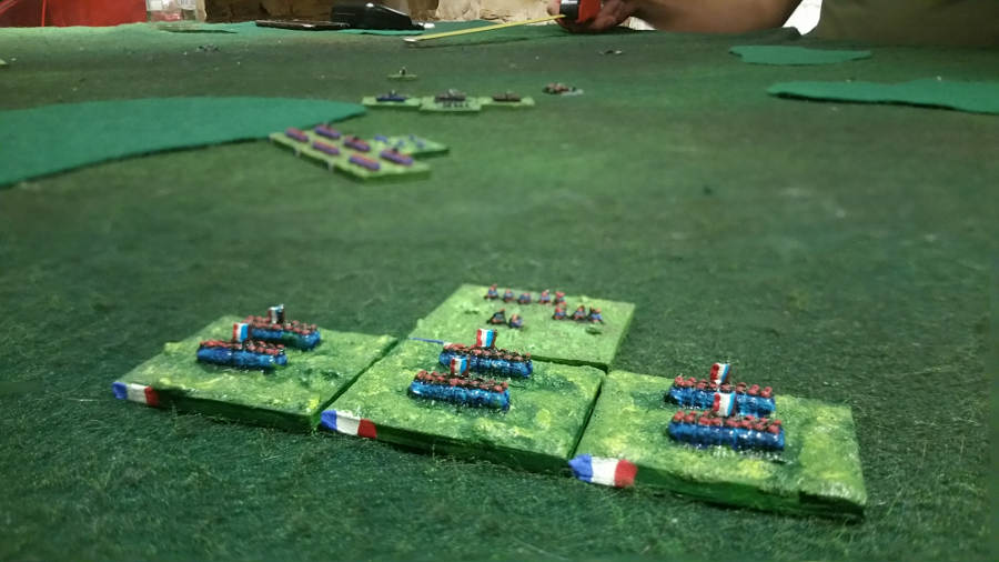 ( On my right flank, the Turcos were in position to stop the prussian flanking march. )