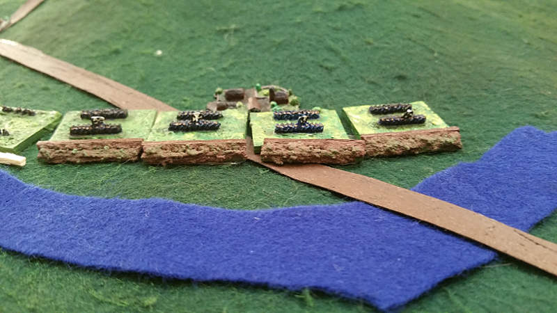 ( Some prussians behind entrenchments )