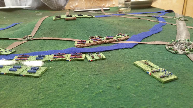 ( The right flank. I took the 1st entrenchments. The prussians hold the small hill. Where was my cavalry to go around them ?!  :( )