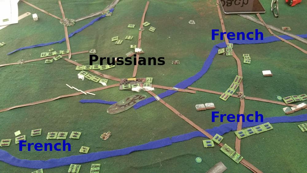 ( The french took many objectives, but not enough )