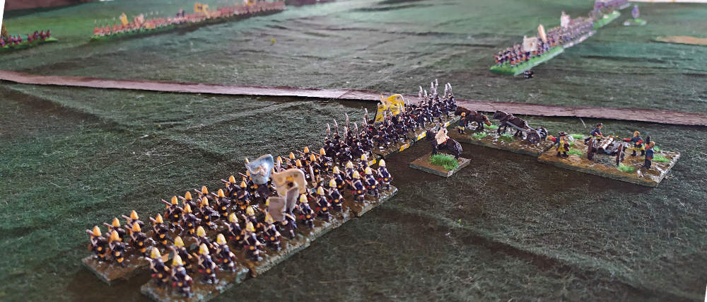 ( Prussians advanced. We can barely see the austrians lines )