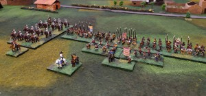 My German Protestant army - missing one artillery.