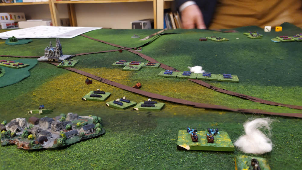 French troops (including Gardes Mobiles) stopped my Prussian veterans using fire.