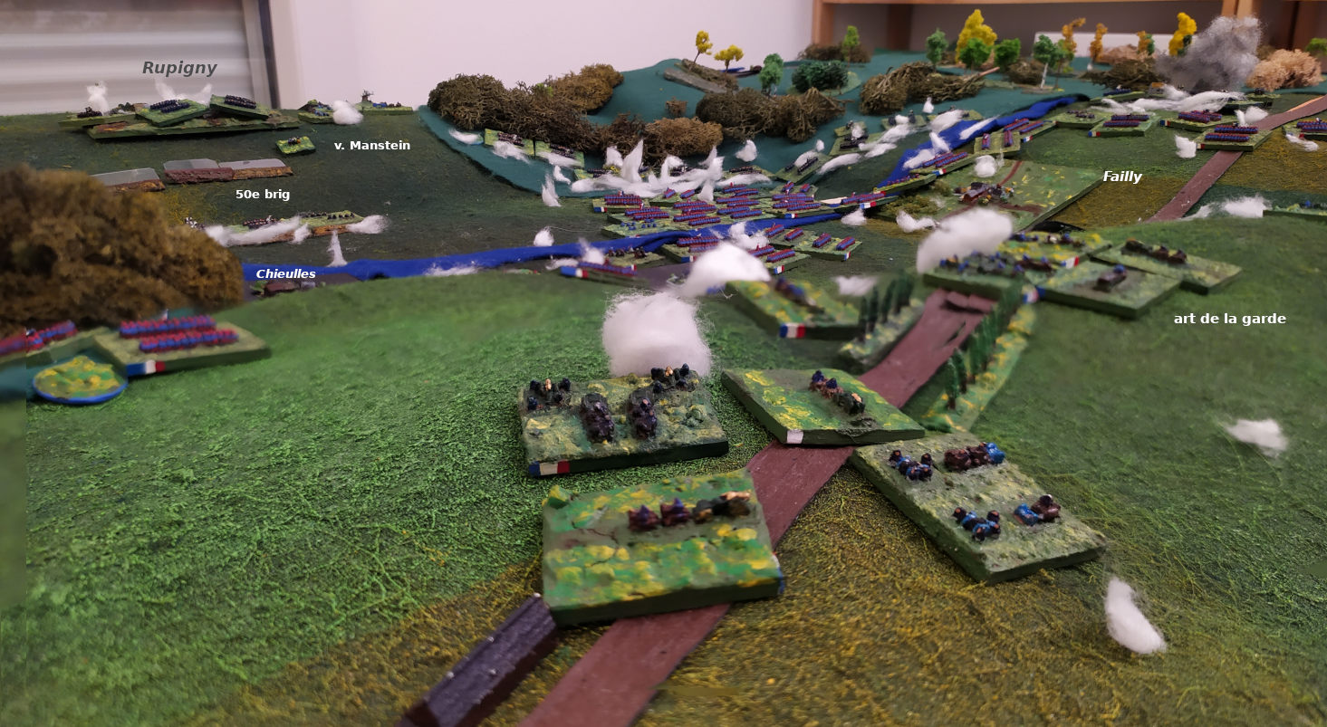 ( Heavy fights during the last turn. Artilleries from both sides were important )