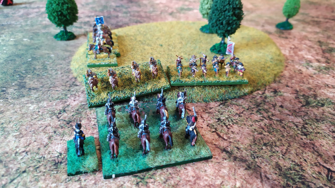 ( On the left I did not play well my cuirassiers, and Manu had a bit of luck. I was repulsed )